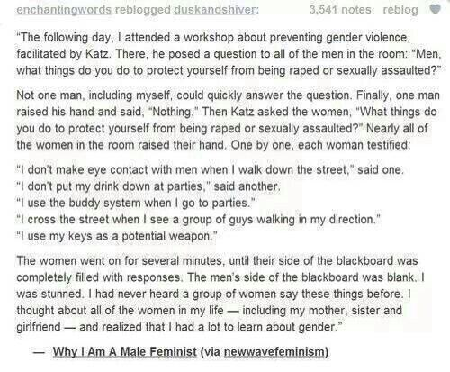 why i am a male feminist