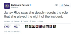 ravens on twitter janelle apology